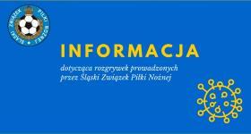 Informacja ŚlZPN o zawieszeniu rozgrywek ...