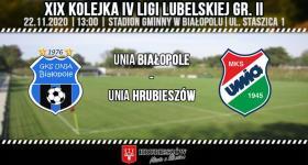 Unia Białopole - Unia Hrubieszów (zapowiedź meczu)