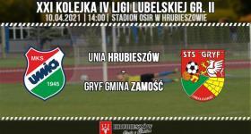 Unia Hrubieszów 0-6 Gryf Gmina Zamość.