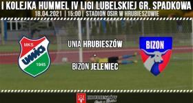 Unia Hrubieszów 0-7 Bizon Jeleniec.
