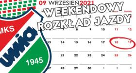Weekendowy rozkład jazdy 18-19.09.2021r.