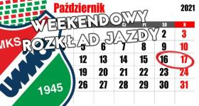 Weekendowy rozkład jazdy 16/17.10.2021r.