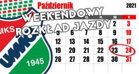 Weekendowy rozkład jazdy 23/24.10.2021r.