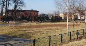 Budowa boisk przy gimnazjum, wiosna 2015