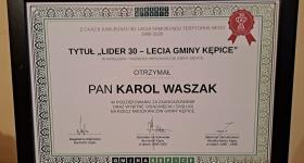 Karol Waszak doceniony!